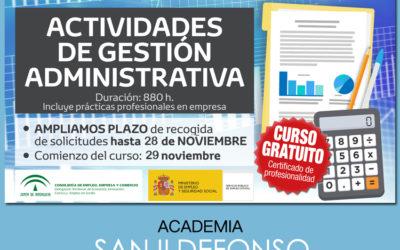 Curso FPE gratuito: Actividades de Gestión Administrativa