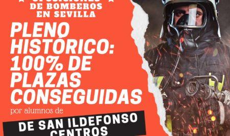 Pleno histórico: el 100% de plazas conseguidas para Bomberos de Sevilla se formaron en San Ildefonso Centros